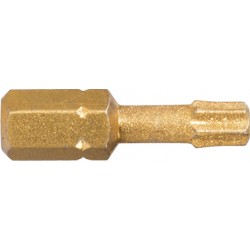 PUNTA TX 27 TORX DIAMANTE 25 mm CORTA 5 UDS COBIT