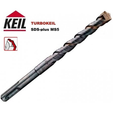 BROCA 10 mm LARGO UTIL 550 mm SDS PLUS MS5 TURBOKEIL MARCA KEIL